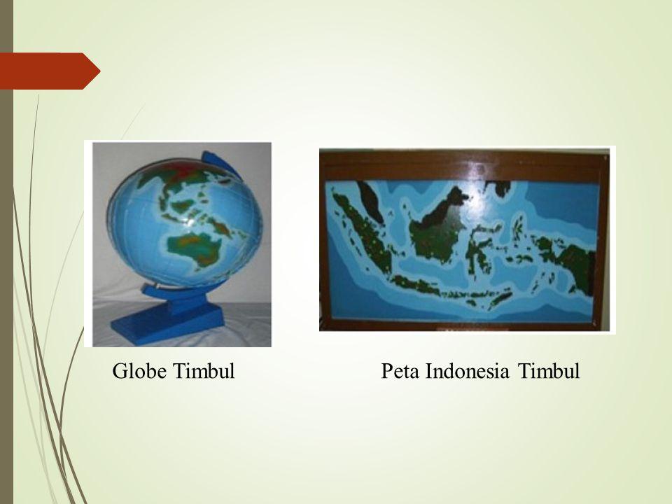 Globe Timbul Peta Indonesia Timbul