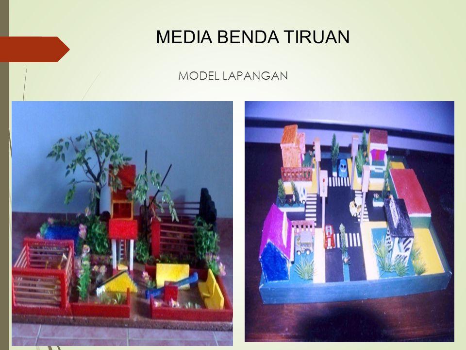 MODEL LAPANGAN MEDIA BENDA TIRUAN