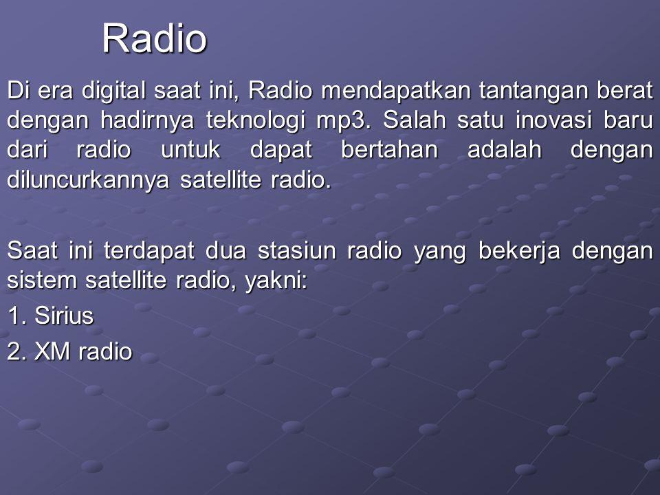 Di era digital saat ini, Radio mendapatkan tantangan berat dengan hadirnya teknologi mp3.