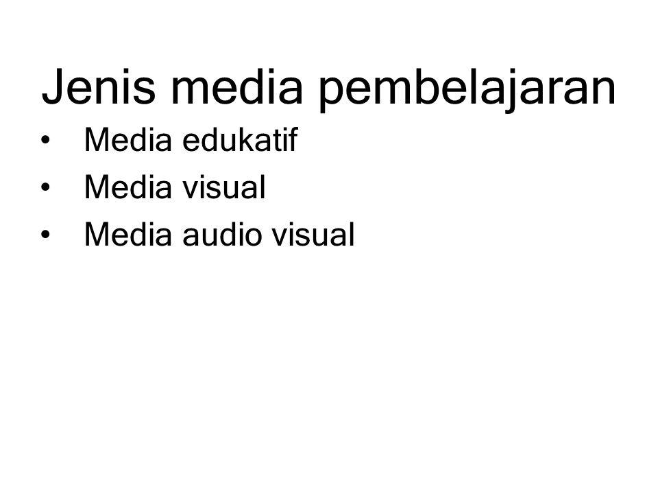 Jenis media pembelajaran Media edukatif Media visual Media audio visual