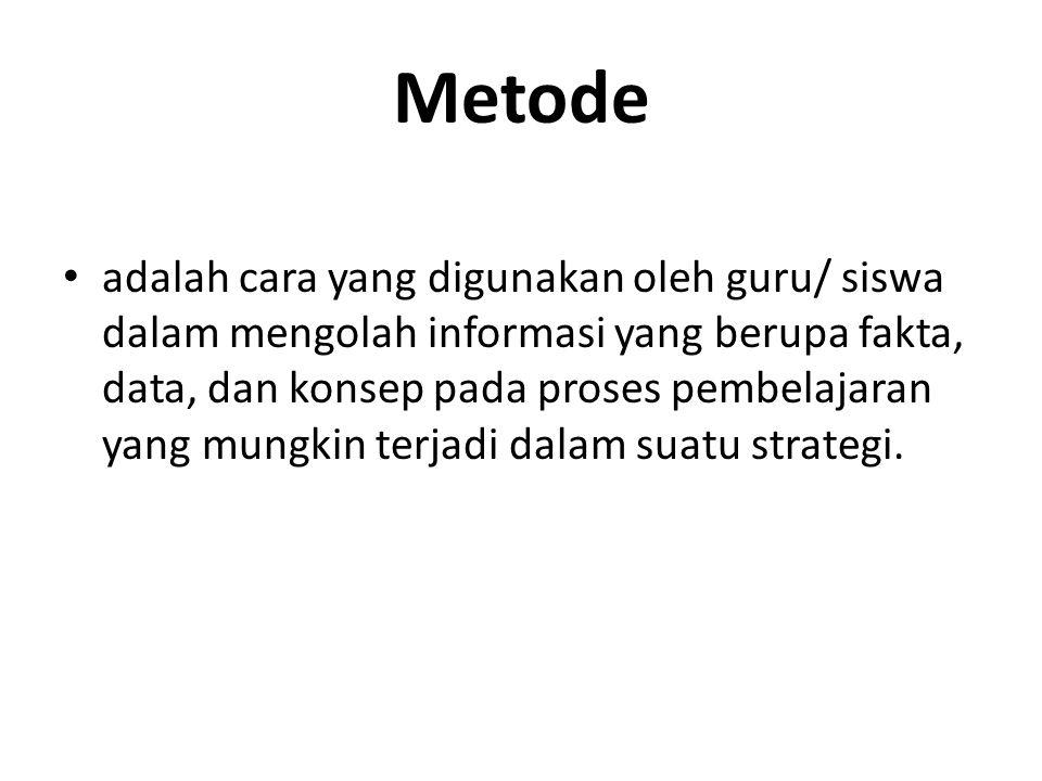Metode apa yang cocok agar siswa aktif pada tahap kegiatan inti.