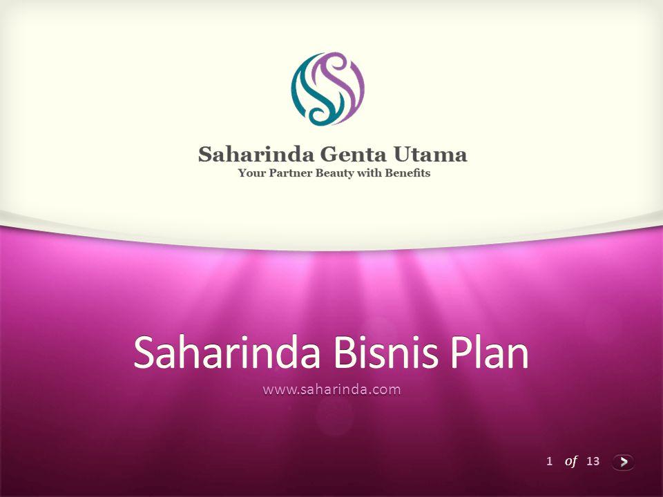 1 of 13 Saharinda Bisnis Plan www.saharinda.com