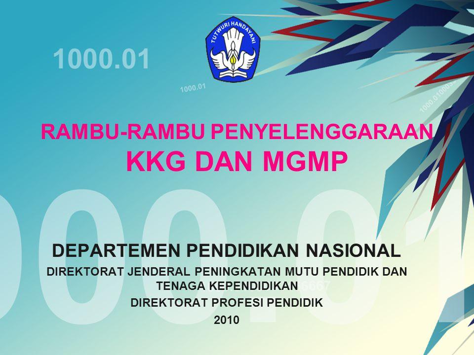 Kewajiban anggota KKG atau MGMP a.