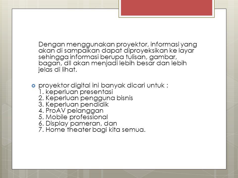 Jenis jenis proyektor elektronik a.