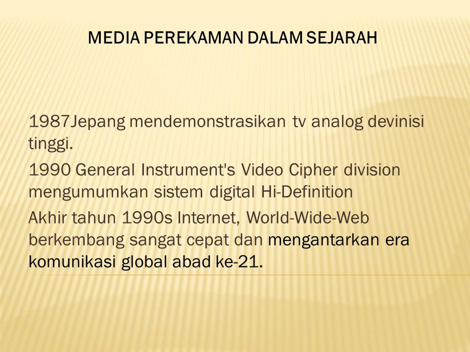 1987Jepang mendemonstrasikan tv analog devinisi tinggi.