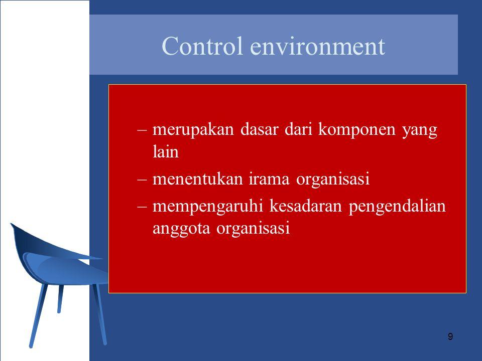 20 Output control: hasil benar dan hanya orang yang berhak yang memperoleh hasilnya –Reconciliation of totals –Comparioson to source document –Visual scanning