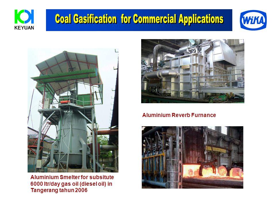 Aluminium Smelter for subsitute 6000 ltr/day gas oil (diesel oil) in Tangerang tahun 2006 Aluminium Reverb Furnance