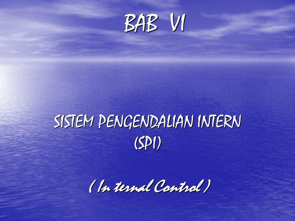 SISTEM PENGENDALIAN INTERN (SPI) ( In ternal Control ) BAB VI