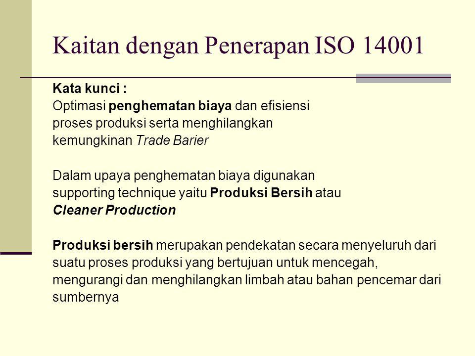 Kata kunci : Optimasi penghematan biaya dan efisiensi proses produksi serta menghilangkan kemungkinan Trade Barier Dalam upaya penghematan biaya digun