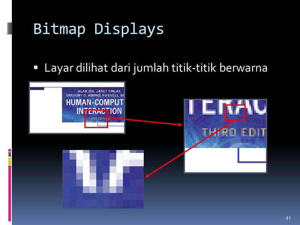 Bitmap Displays  Layar dilihat dari jumlah titik-titik berwarna 41