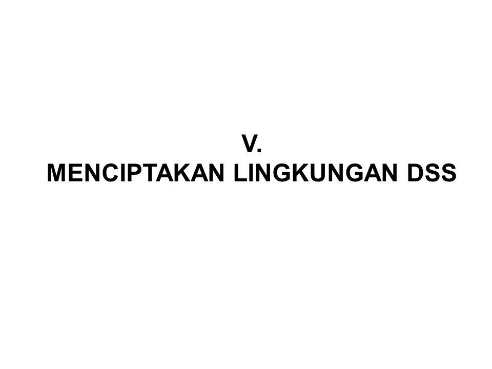 V. MENCIPTAKAN LINGKUNGAN DSS