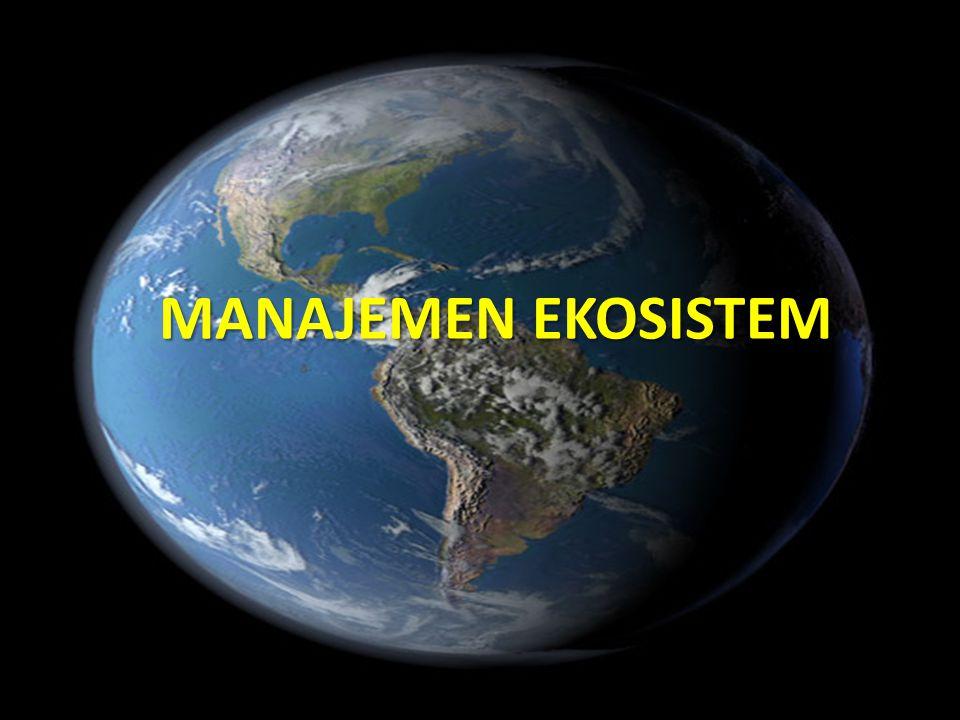 Ecosistem dapat mengalami gangguan  Ekosistem perlu diawasi dan dilindungi dari ancaman Ekosistem dapat mengalami perubahan, baik secara alami maupun antropologis (pengaruh manusia)  Perubahan dapat terjadi secara tiba-tiba, atau bersifat gradual Pengelola Lingkungan tidak dapat mengelola ekosistem itu sendiri, melainkan mengelola interaksi dengan manusia dengan lingkungan 32