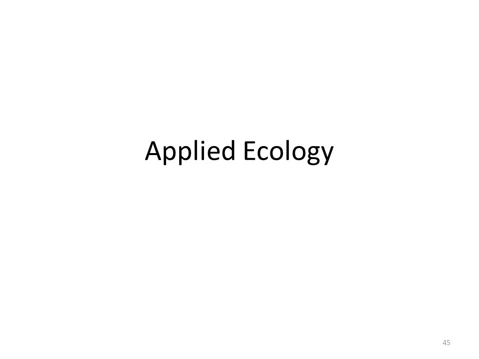 Applied Ecology 45