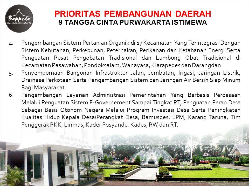 PROGRAM DAN KEGIATAN PRIORITAS SEKTORAL BIDANG FISIK DAN PRASARANA Dinas Perhubungan, Kebudayaan dan Parpostel : NoProgram/KegiatanSasaranVolume Lokasi (Kec, Desa/Kel) Biaya (Rp)Ket (1)(2)(3)(4)(5)(6)(7) 1Program Pembangunan Prasarana dan Fasilitas Perhubungan : 1Pembuatan SIM Lalu Lintas dan Angkutan Jalan Tersedianya Sistem Informasi Manajemen Lalu Lintas dan Angkutan Jalan 1 KegiatanPurwakarta 600,000,000 Bidang Perhubungan 2Program Pengendalian dan Pengamanan Lalu Lintas : 1Kajian Pengaturan Lalu Lintas Sistem Satu Arah (SSA) di Wilayah Perkotaan Purwakarta Tersedianya Dokumen Hasil Kajian Pengaturan Lalu Lintas Sistem Satu Arah di Wilayah Perkotaan Purwakarta 8 Ruas JalanPurwakarta 350,000,000 Bidang Perhubungan 2Study Evaluasi Persimpangan Utama di Wilayah Perkotaan Purwakarta Tersedianya Dokumen Hasil Kajian Study Evaluasi Persimpangan Utama di Wilayah Perkotaan Purwakarta 25 Persimpangan Purwakarta 450,000,000 Bidang Perhubungan