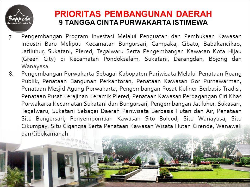 7.Pengembangan Program Investasi Melalui Penguatan dan Pembukaan Kawasan Industri Baru Meliputi Kecamatan Bungursari, Campaka, Cibatu, Babakancikao, J