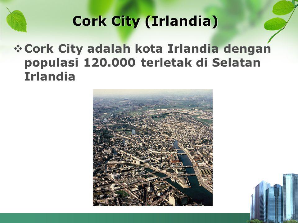 Cork City (Irlandia)  Cork City adalah kota Irlandia dengan populasi 120.000 terletak di Selatan Irlandia