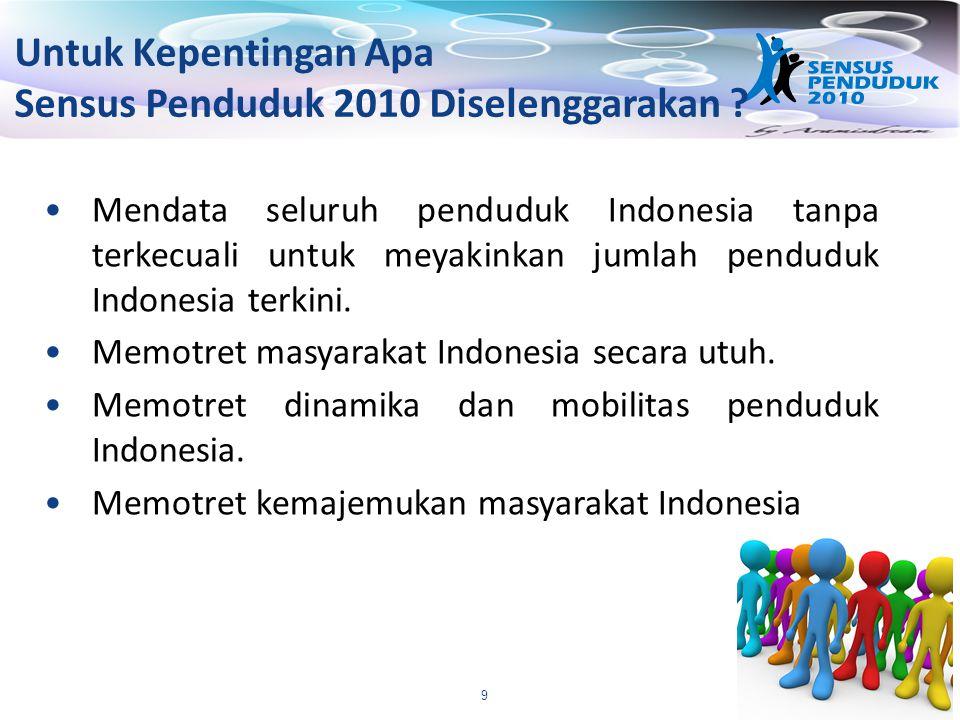 10 Informasi Apa yang Akan Diberikan oleh Sensus Penduduk 2010 .