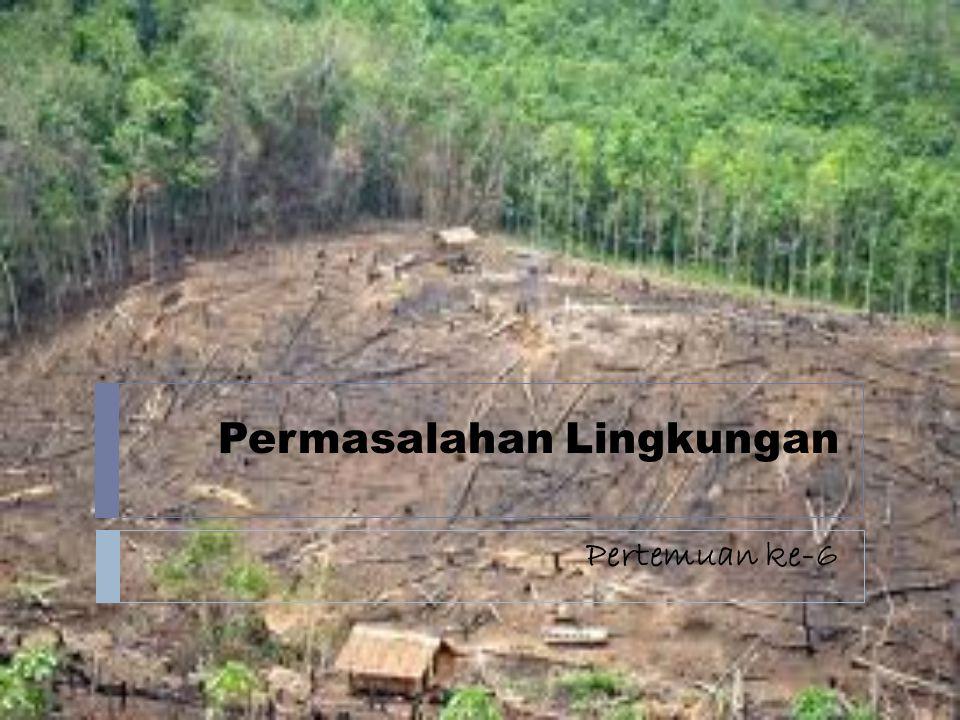 Permasalahan Lingkungan Pertemuan ke-6