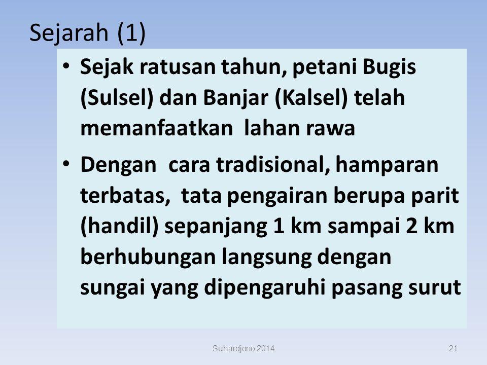 Suhardjono 2014 betapa luasnya lahan rawa di Indonesia.... yang cocok untuk pertanian saja mencapai sekitar 33 juta Ha! bandingkan dengan luas pertani