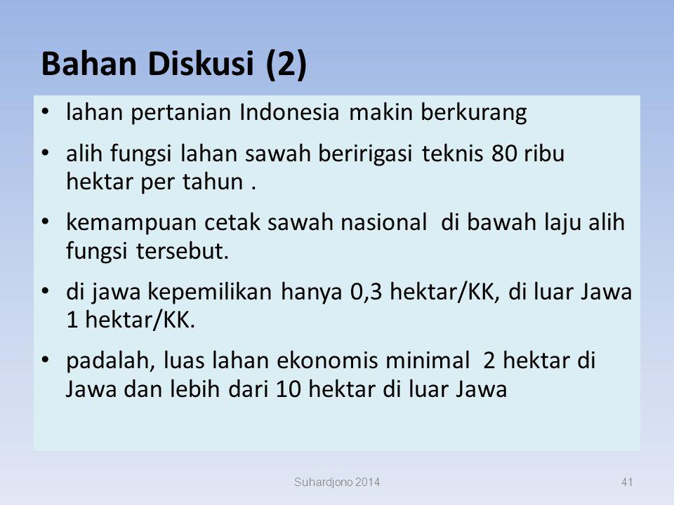Bahan Diskusi (1) di Indonesia, beras = makanan pokok. produksi beras dunia (2007) sekitar 645 juta ton, 90% dihasilkan di Asia, terutama di India dan