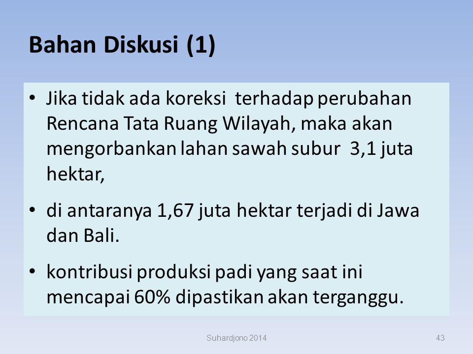 Bahan Diskusi (3) Indonesia konsumen beras tertinggi dunia ( tahun 2007 mencapai 139,15 kg/kapita/tahun ). konsumsi (kapita/tahun) di Jepang hanya 60k