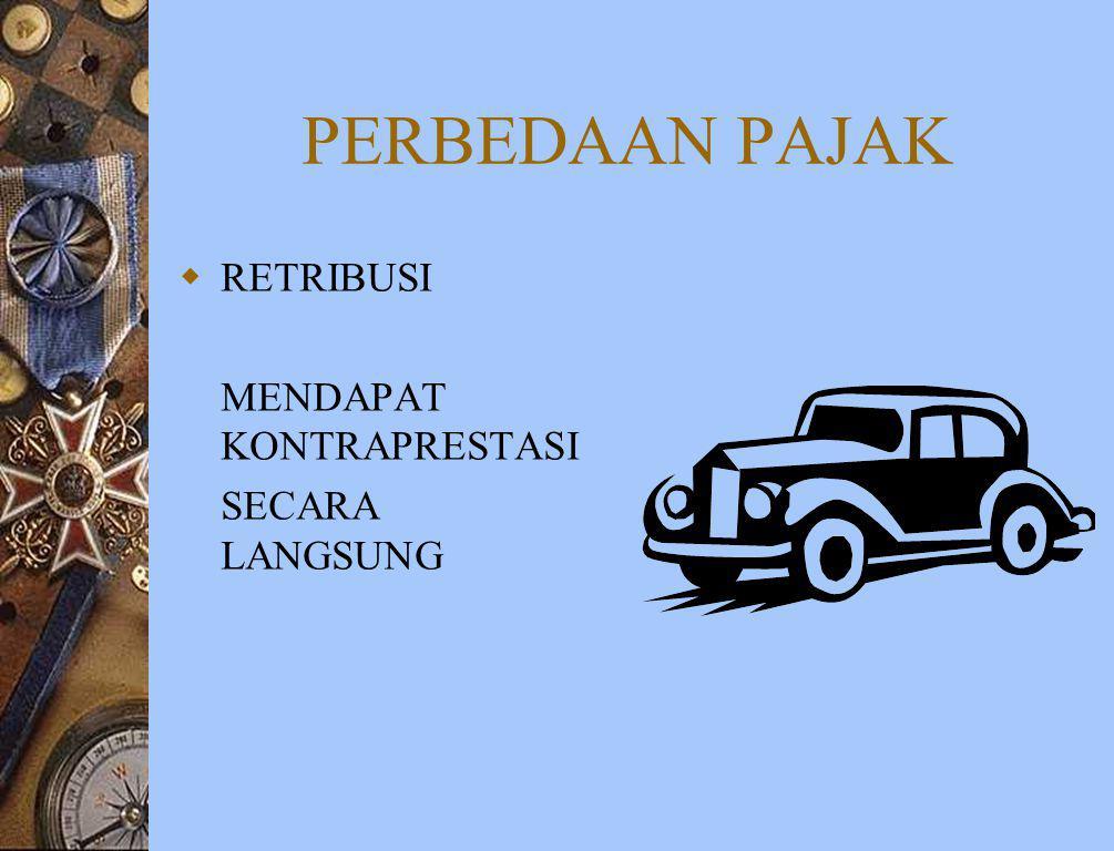FUNGSI PAJAK INDONESIA BUDGETER REGULAIR REDISTRIBUSI DEMOKRASI TARIF PROGRESIF : GOL MAMPU DIKENAKAN TARIF YG LEBIH TINGGI PENJELMAAN KEKELUARGA & KE