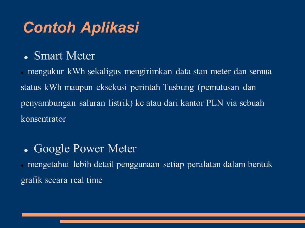 Contoh Aplikasi Smart Meter mengukur kWh sekaligus mengirimkan data stan meter dan semua status kWh maupun eksekusi perintah Tusbung (pemutusan dan pe