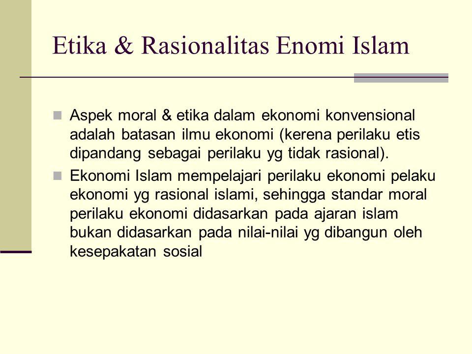 Kaidah umum dan universal, sesuai dengan universalitas islam dalam konsep ekonomi Islam adalah setiap pelaku ekonomi harus : a. bertujuan untuk mendap