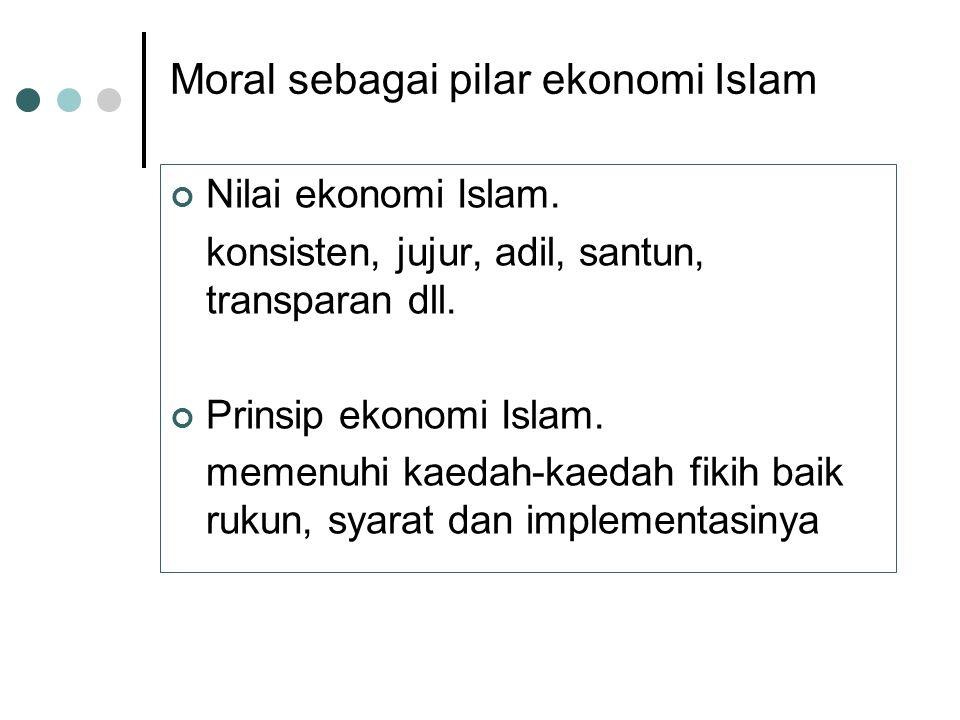 Tujuan ekonomi Islam. Fallah (bahagia dunia – akhirat) Hayyah thayibah (baik & terhormat) Mashlahah al ibad (kesejahteraan hakiki)