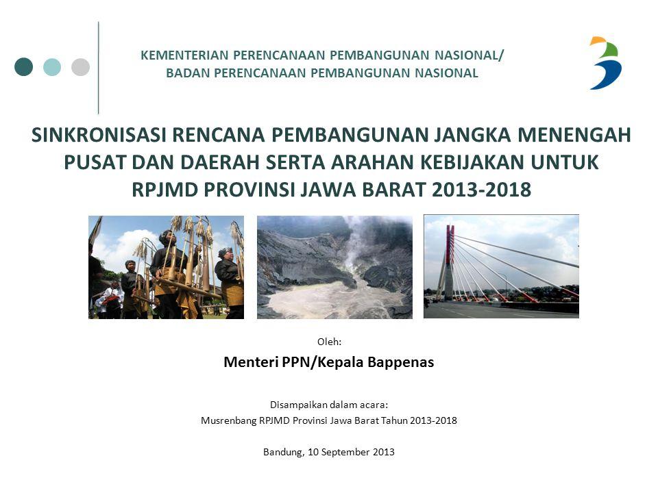 PERMASALAHAN JAWA BARAT: EKONOMI DAN PEMERATAAN PEMBANGUNAN Slide - 52  Pertumbuhan ekonomi Provinsi Jawa Barat mengalami peningkatan dari 4,8 persen (2004) menjadi 6,1 persen (2013 Q2).