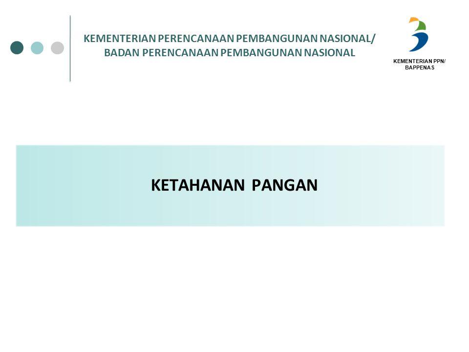 KEMENTERIAN PPN/ BAPPENAS KETAHANAN PANGAN KEMENTERIAN PERENCANAAN PEMBANGUNAN NASIONAL/ BADAN PERENCANAAN PEMBANGUNAN NASIONAL
