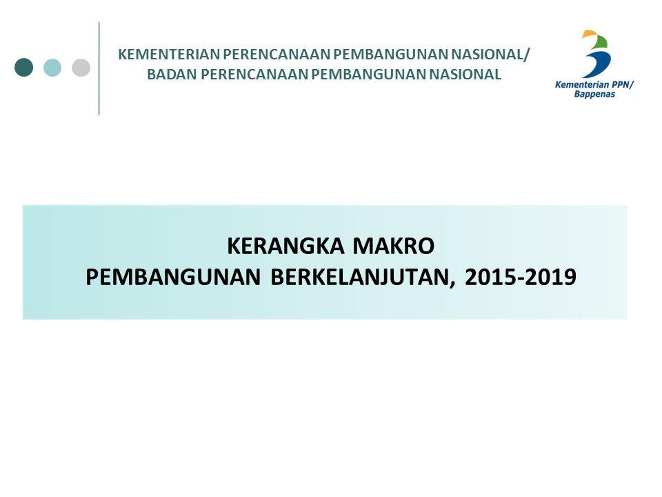 KERANGKA MAKRO PEMBANGUNAN BERKELANJUTAN, 2015-2019 KEMENTERIAN PERENCANAAN PEMBANGUNAN NASIONAL/ BADAN PERENCANAAN PEMBANGUNAN NASIONAL