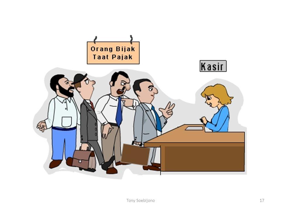 Undang-undang perpajakan Indonesia Undang-Undang Nomor 6 Tahun 1983 tentang Ketentuan Umum dan Tata Cara Perpajakan stdd Undang-Undang Nomor 16 Tahun 2009 Undang-Undang Nomor 7 Tahun 1983 tentang Pajak Penghasilan stdd Undang- Undang Nomor 36 Tahun 2008 Undang-Undang Nomor 8 Tahun 1983 tentang Pajak Pertambahan Nilai dan Pajak Penjualan atas Barang Mewah stdd Undang-Undang Nomor 42 Tahun 2009 Undang-Undang Nomor 10 tahun 1995 tentang Kepabeanan stdd Undang-Undang Nomor 17 Tahun 2006 Undang-Undang Nomor 11 Tahun 1995 tentang Cukai stdd Undang-Undang Nomor 39 Tahun 2007 Tony Soebijono16