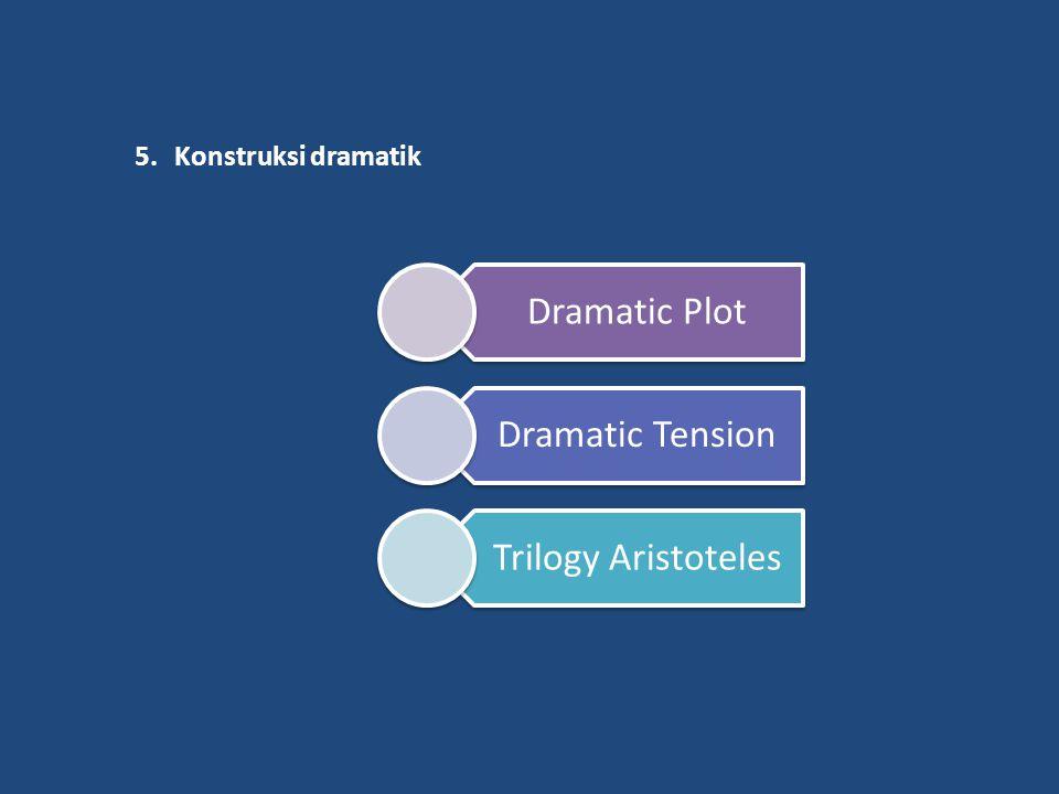 5.Konstruksi dramatik Dramatic Plot Dramatic Tension Trilogy Aristoteles