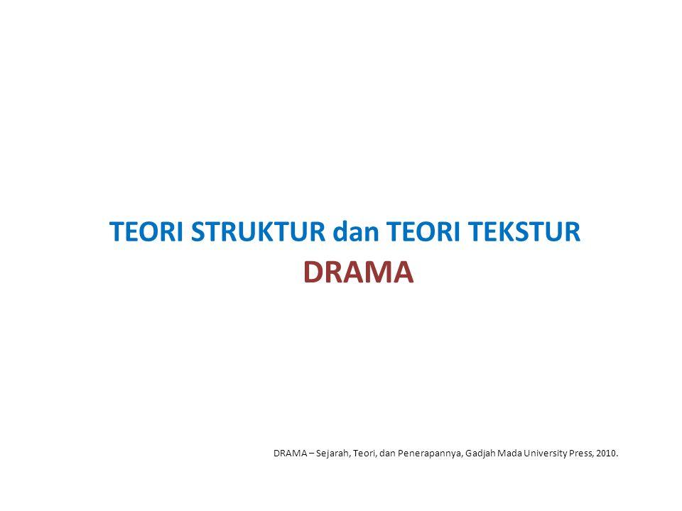 TEORI STRUKTUR dan TEORI TEKSTUR DRAMA DRAMA – Sejarah, Teori, dan Penerapannya, Gadjah Mada University Press, 2010.