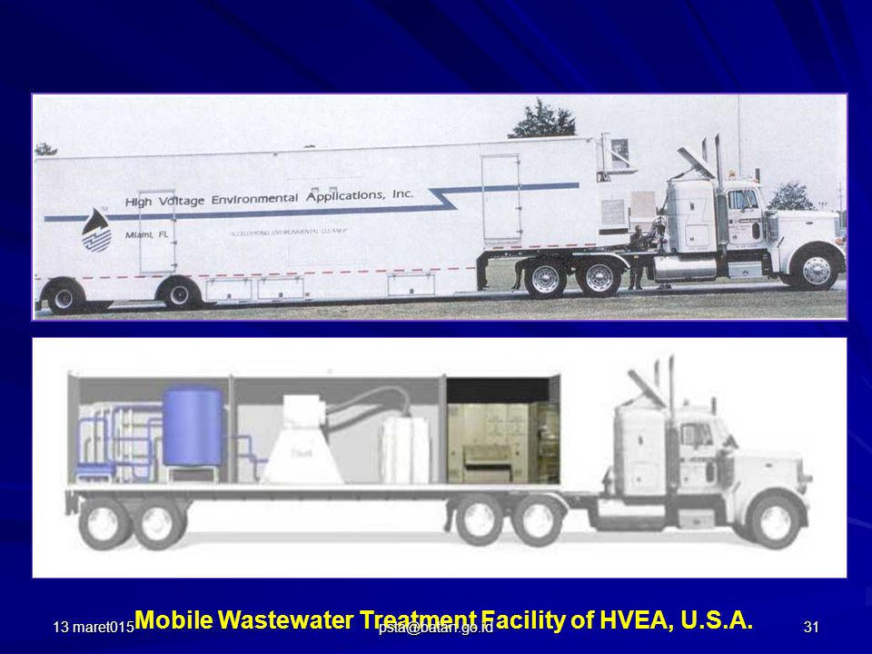 Mobile Wastewater Treatment Facility of HVEA, U.S.A. 13 maret01531 psta@batan.go.id