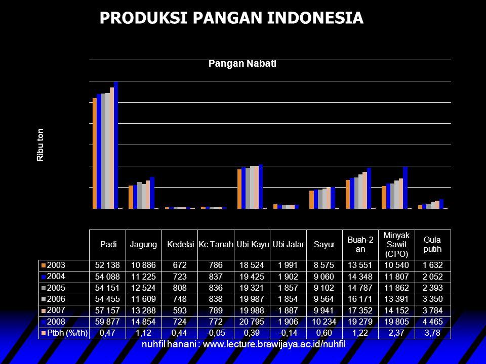 PRODUKSI PANGAN INDONESIA nuhfil hanani : www.lecture.brawijaya.ac.id/nuhfil
