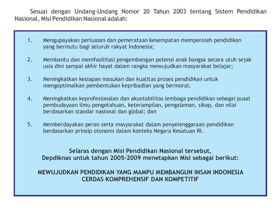 MENDIKNAS Indonesia adalah laboratorium terbesar dan paling menarik untuk (menghadapi) permasalahan dan tantangan pendidikan inklusif karena inilah negara kepulauan yang terbesar di dunia dengan jumlah pulau lebih dari 17.000, kata Menteri Pendidikan Nasional (Mendiknas) Bambang Sudibyo pada Konferensi Asia Pasifik Pendidikan Inklusif di Hotel Sanur Paradise Plasa, Denpasar, Bali, Kamis (29/05/2008).