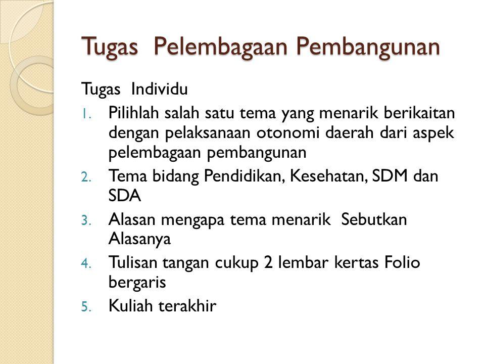 Tugas Pelembagaan Pembangunan Tugas Individu 1.