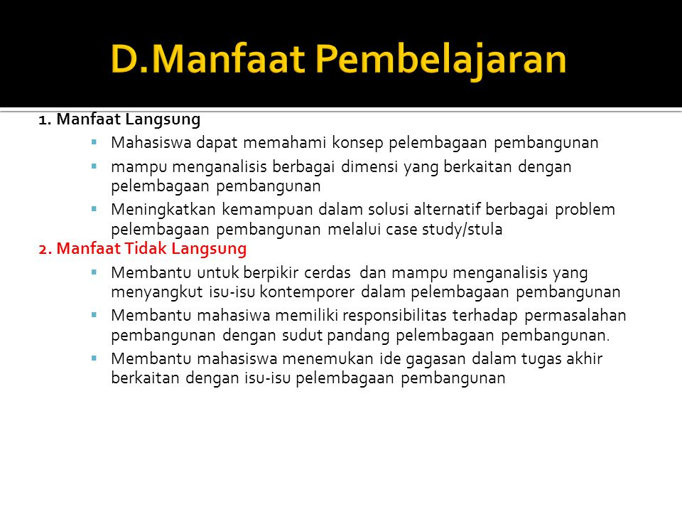 F.Evaluasi Dan Monitoring 1. Monitoring: a.