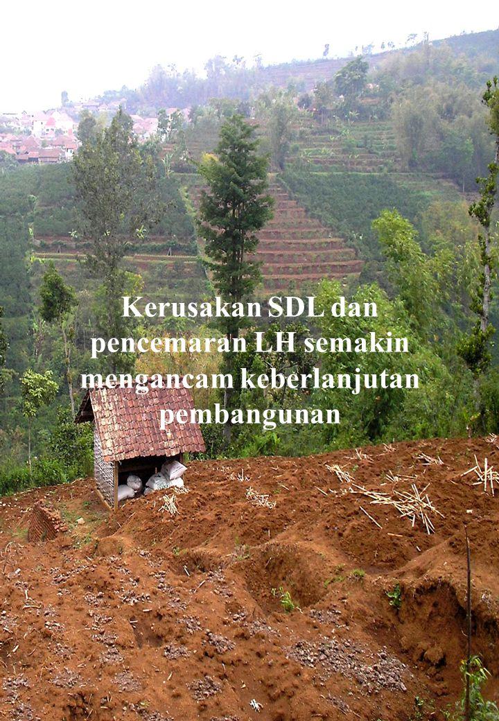 Kualitas hidup manusia Indonesia semakin menurun, indikatornya: Kematia n bayi lahir Gizi Anak BALIT A Penyakit akibat Pencemar an Air & udara Kualitas Kawasan Konserva si/ Lindung Pudarnya Budaya- Kearifan Masyarak at SDA- LH Pudarnya Budaya- Kearifan Masyarak at SDA- LH