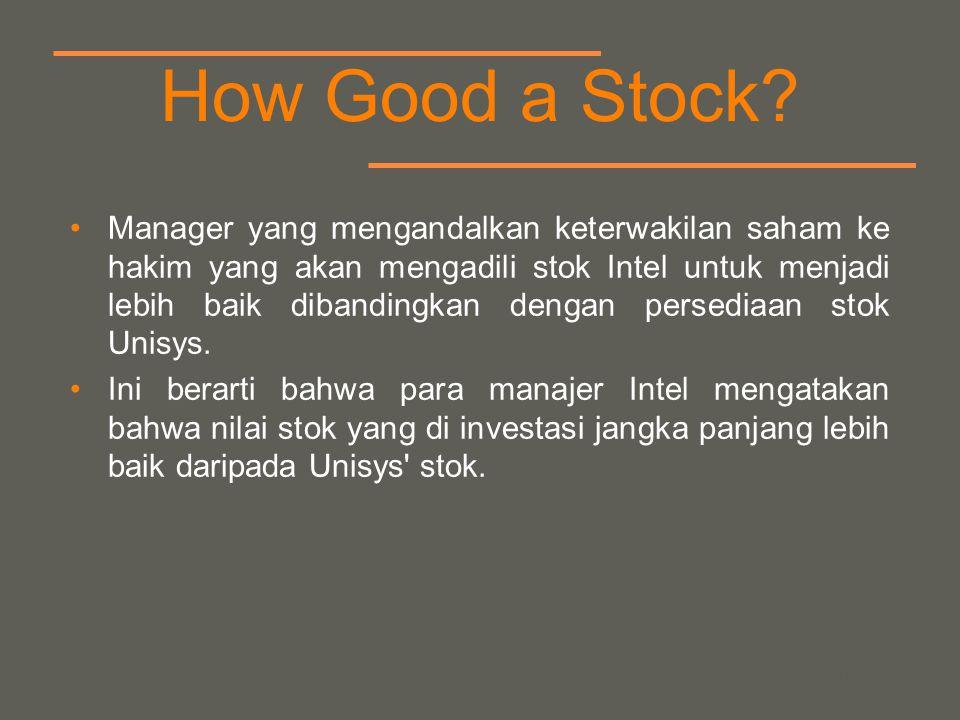 your name How Good a Stock? Manager yang mengandalkan keterwakilan saham ke hakim yang akan mengadili stok Intel untuk menjadi lebih baik dibandingkan