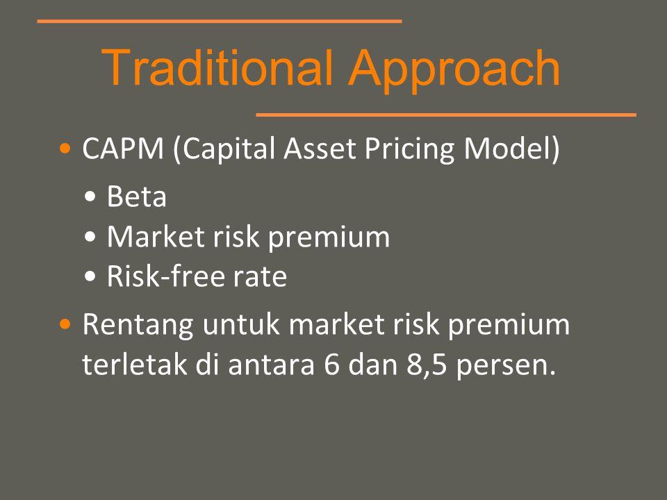 your name CAPM (Capital Asset Pricing Model) Beta Market risk premium Risk-free rate Rentang untuk market risk premium terletak di antara 6 dan 8,5 pe