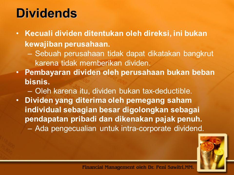 Classes of Stock Ketika ada lebih dari satu kelas saham, biasanya dibuatkan hak suara yang tidak sama.