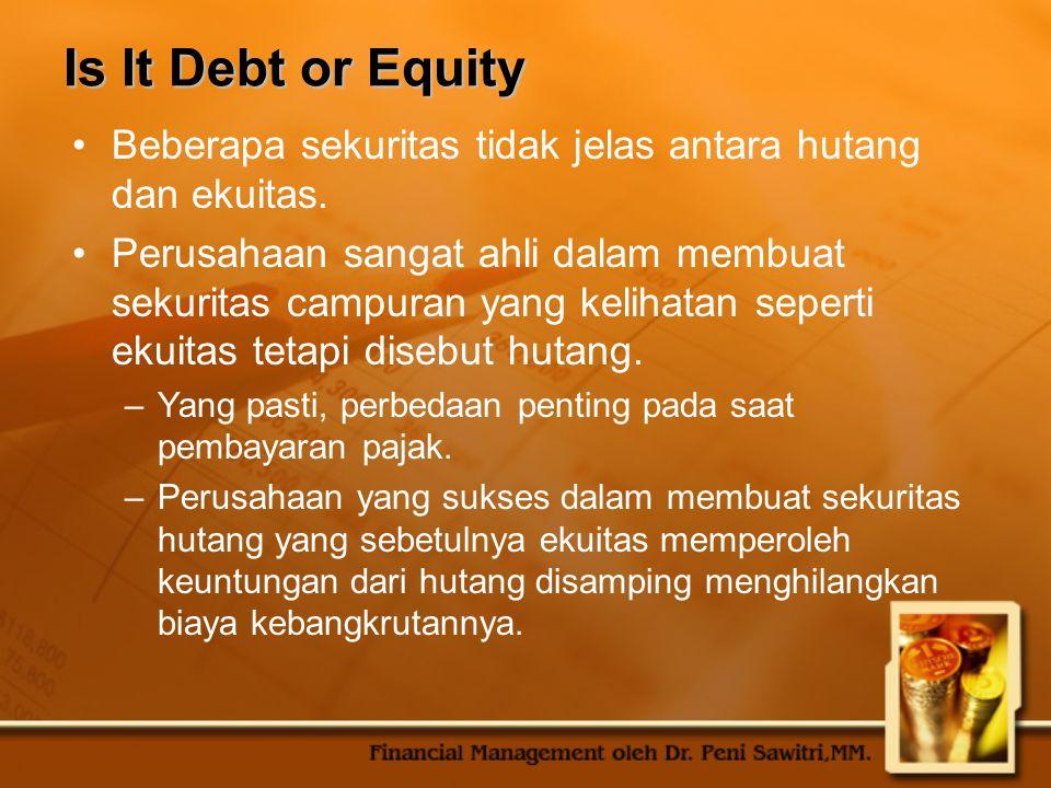 Basic Features of Long-Term Debt Bond indenture biasanya berisi: –Jumlah penerbitan, tanggal penerbitan, jatuh tempo.