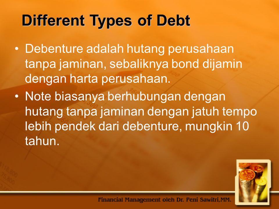 Repayment Hutang jangka panjang biasanya dibayar dengan jumlah yang teratur sepanjang masa hutang.