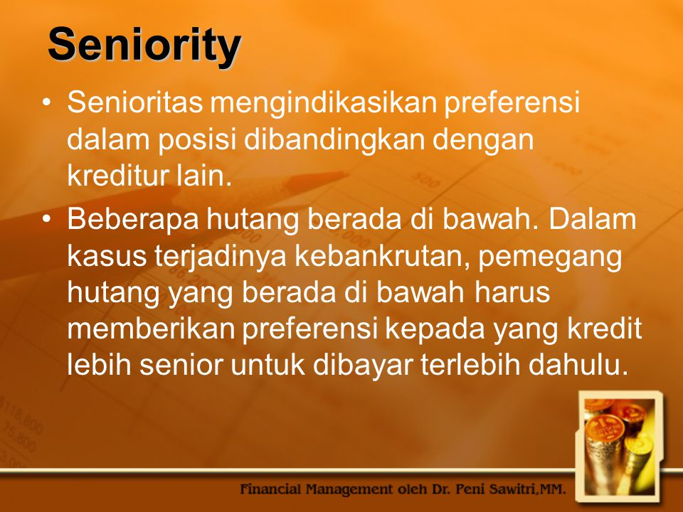 Security Jaminan adalah bentuk attachment kepada properti.