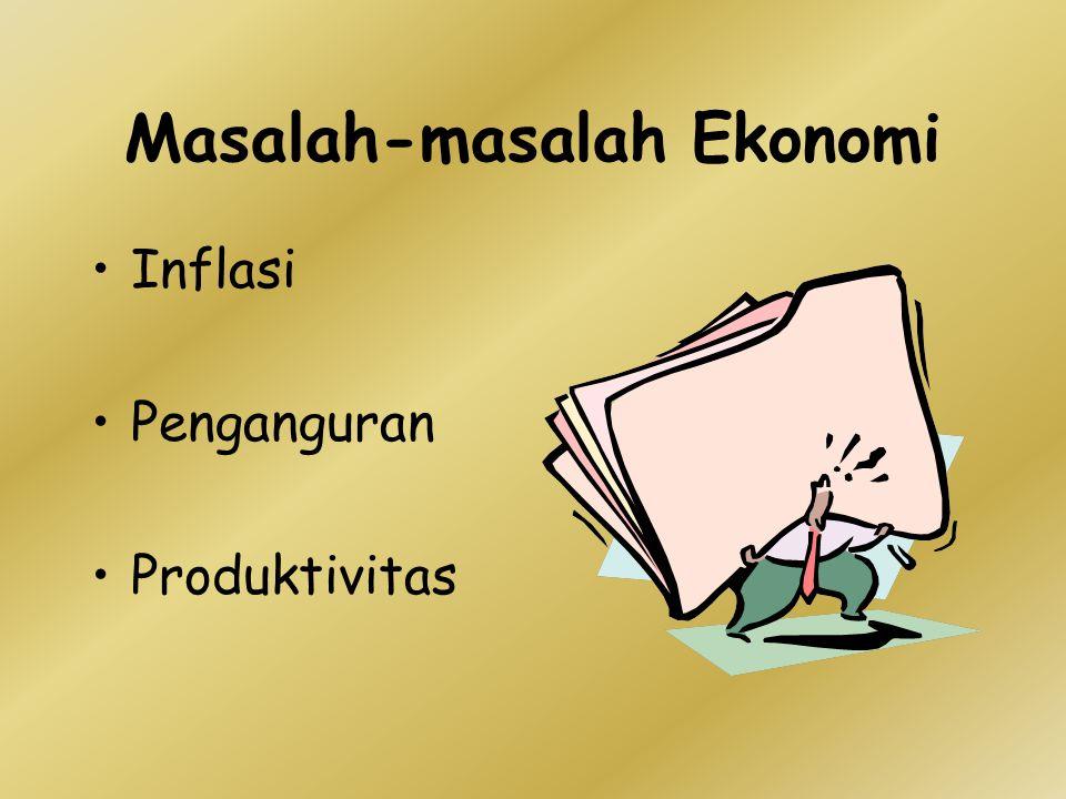 Masalah-masalah Ekonomi Inflasi Penganguran Produktivitas
