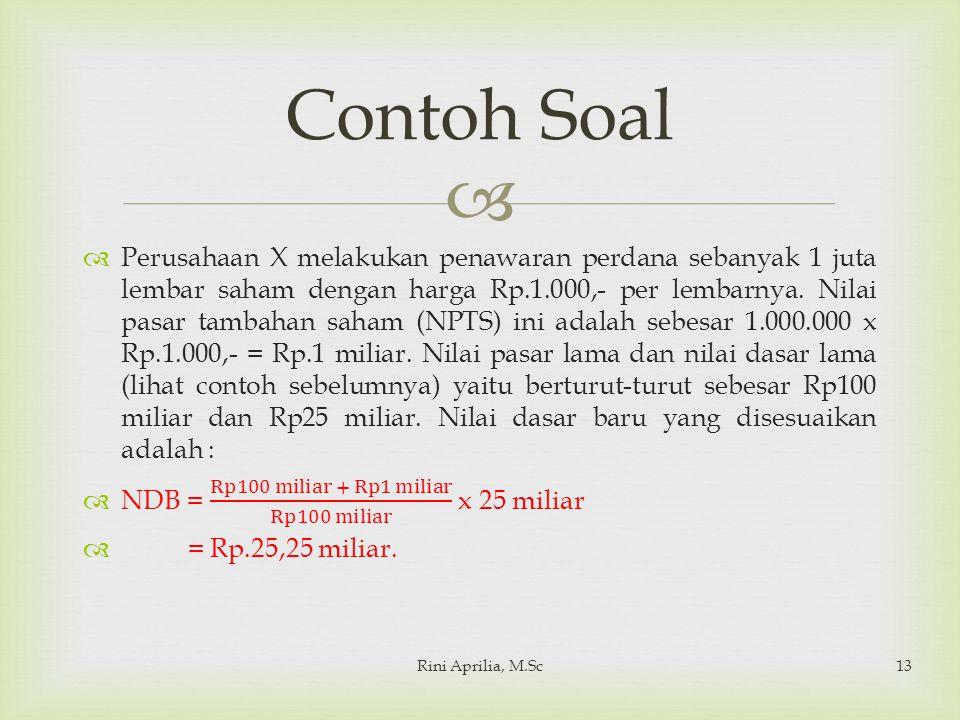  Rini Aprilia, M.Sc13 Contoh Soal