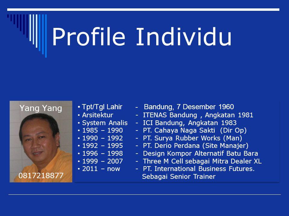 Tpt/Tgl Lahir - Bandung, 7 Desember 1960 Arsitektur - ITENAS Bandung, Angkatan 1981 System Analis - ICI Bandung, Angkatan 1983 1985 – 1990 - PT. Cahay